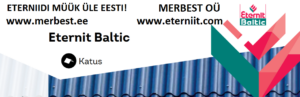 Eternit Baltic eterniit, katuseplaat, merbest, eterniitkatus